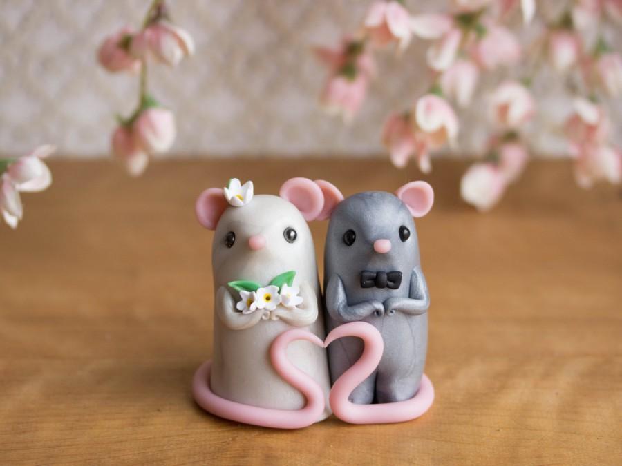 Mariage - Mouse Wedding Cake Topper by Bonjour Poupette