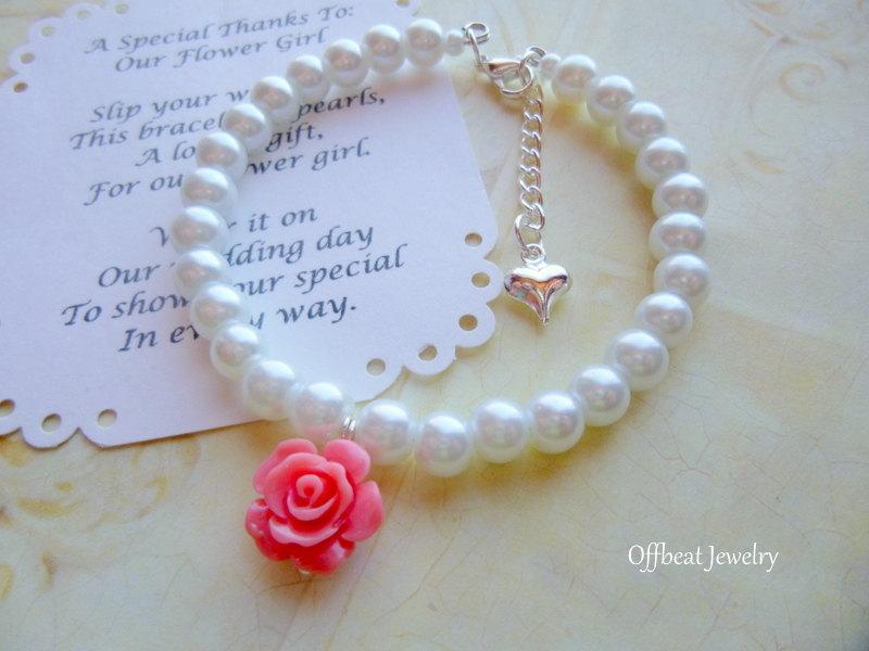 Wedding - Flower Girl Bracelet, Flower Girl Gift, Pearl Flower Girl Bracelet, Pearl Childrens Bracelet, Pearl Childs Bracelet, Pearl Kids Bracelet