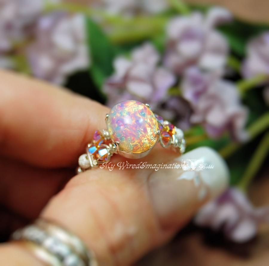 round birthstone double opal engagement ring wedding promise october halo rings within