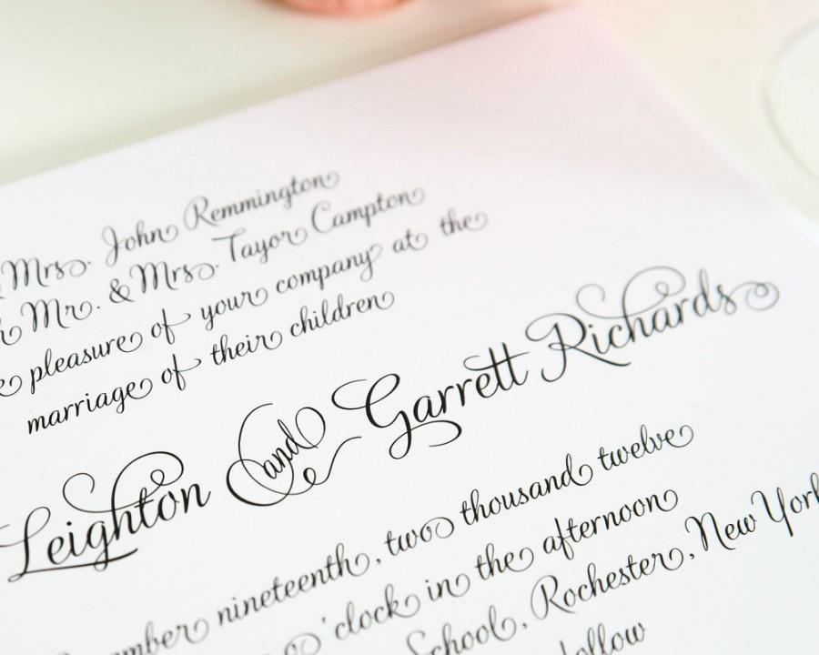 Hochzeit - Wedding Invitation - Fairytale Script - Deposit