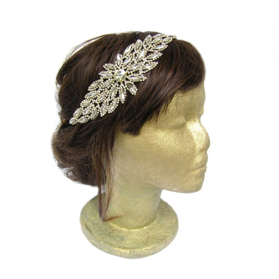 Свадьба - Gatsby Headpiece Gold Flapper Costume Bridal Fascinator Art Deco Headpiece Roaring 20s Headband Vintage Wedding Hair Piece Hair Accessories
