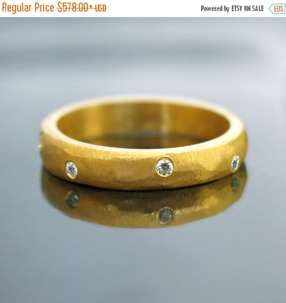 20 Sale Gold Engagement Ring Diamond Wedding Ring Simple