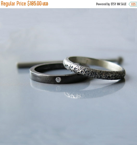 20 sale modern diamond ring diamond engagement ring alternative wedding ring set oxidized ring modern engagement ring unique wedding r - Alternative Wedding Rings
