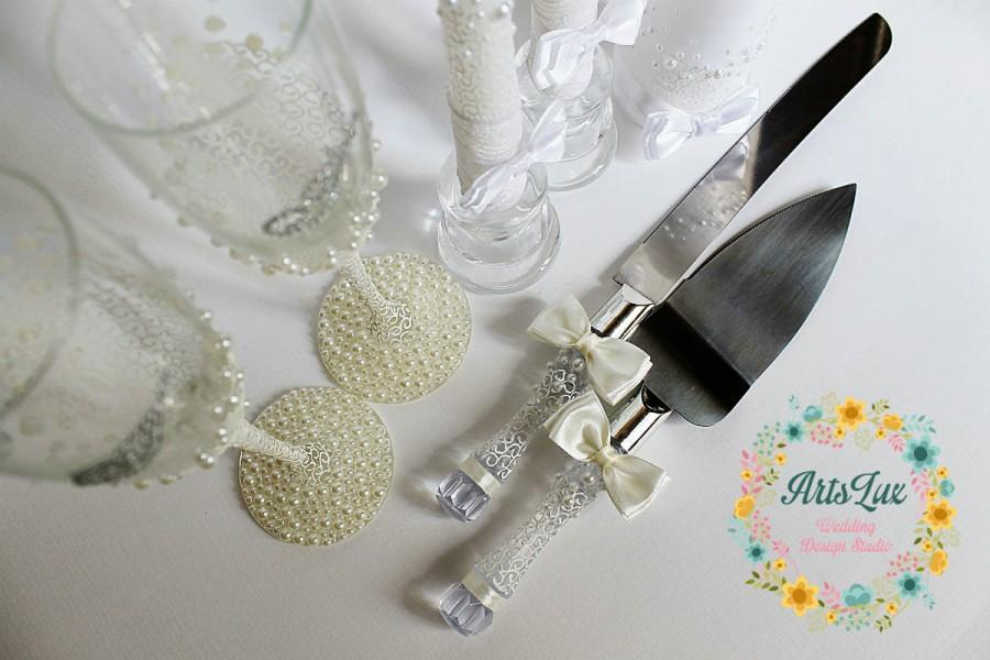 Wedding Gift Knife Set : Set-Wedding Cake and Knife Set- Wedding Cake Accessories-Wedding gift ...