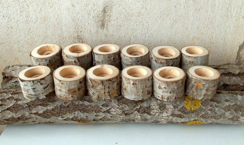 New - Tree Branch Candle Holders - Set Of 12 - Wood Candle Holders ...