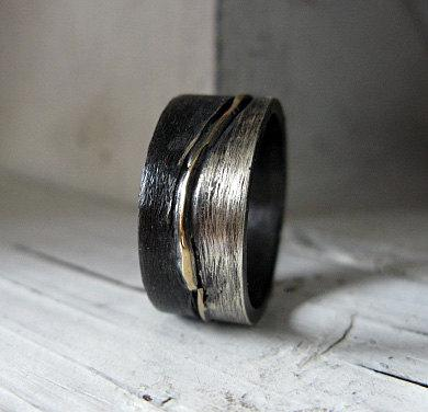 Size 10 Mens Wedding Band Mens Wedding Ring Silver Gold Ring