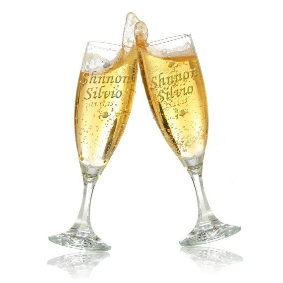 Hochzeit - Wedding champagne glasses, Wedding glasses, Champagne glasses, Wedding champagne, Wedding champagne flutes, Champagne flutes, Wedding flutes