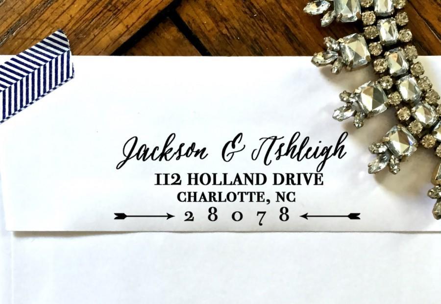 Hochzeit - Self Inking Address Stamp, Return Address Stamp, Address Stamp Self Inking,  Address Stamp, Wedding Stamp, Custom Address Stamp Style No. 17
