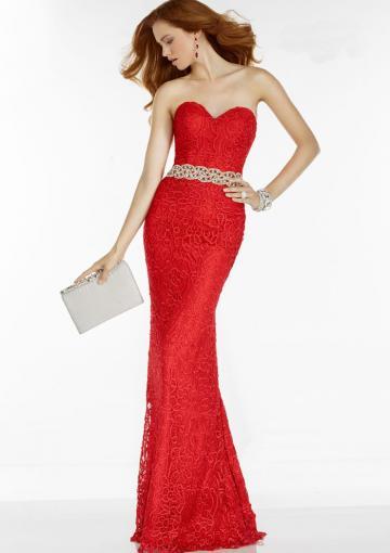 زفاف - Buy Australia 2016 Red Sweetheart Neckline Beaded Lace Floor Length Evening Dress/ Prom Dresses 6593 at AU$173.91 - Dress4Australia.com.au