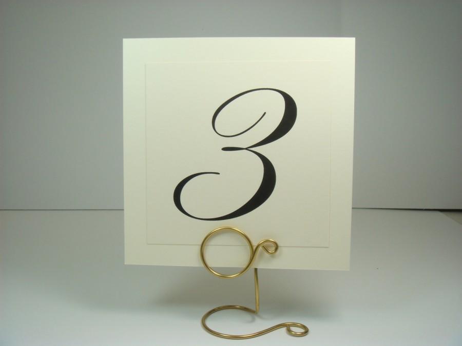 Table Numbers Wedding Table Decor Elegant Layered Design