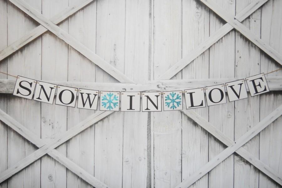 Свадьба - WINTER WEDDING Glitter Snowflake Wedding Banner Choose Your Colors Thank You Sign Wedding Photo Prop