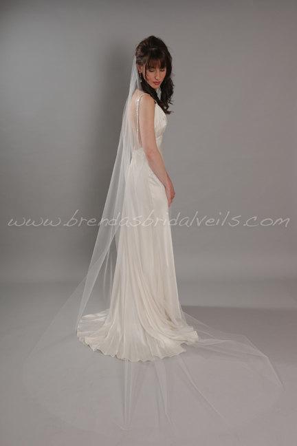Mariage - Illusion Tulle Bridal Veil, Sheer Single Layer, Wedding Veil, 90 thru 108 inch lengths available - Ashley