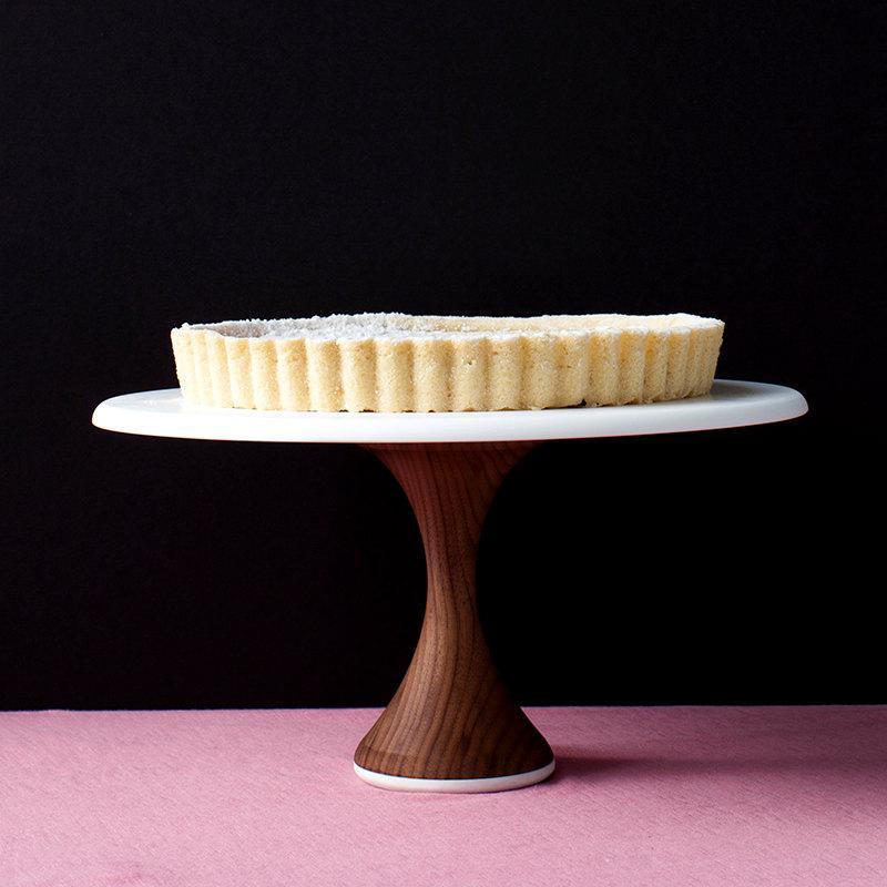 Wedding Cake Stand Modern 10 Inch Wood