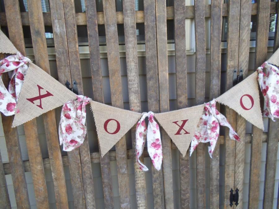 Love Banner Burlap Garland Wedding Xoxo Rustic Hearts Photo Prop Fl Decoration