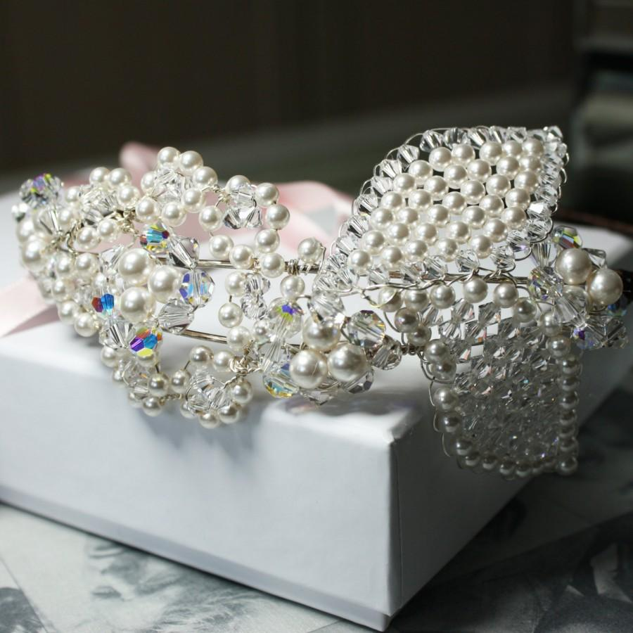 Свадьба - Beautiful crystal side Tiara