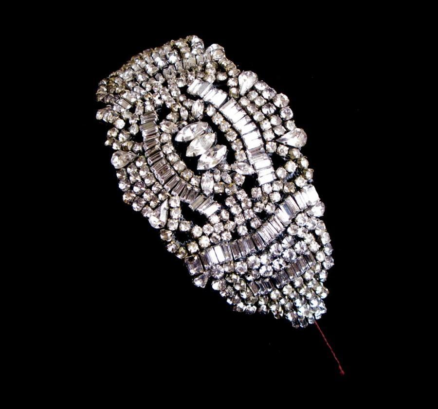 Свадьба - Vintage style bridal headpiece or side tiara - Paris