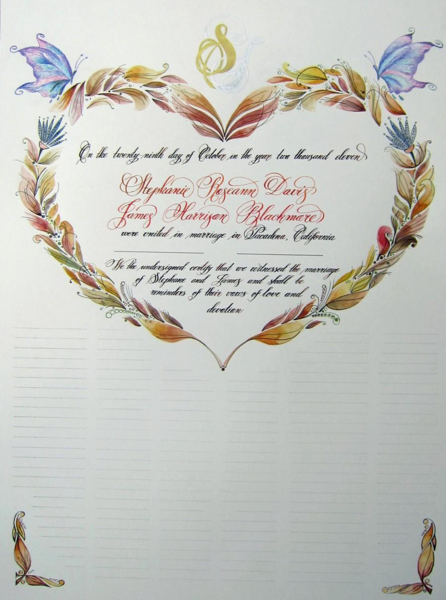 wedding certificate Marriage certificate
