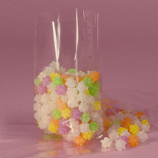 Medium Clear Favor Boxes : Clear candy bags cello with white