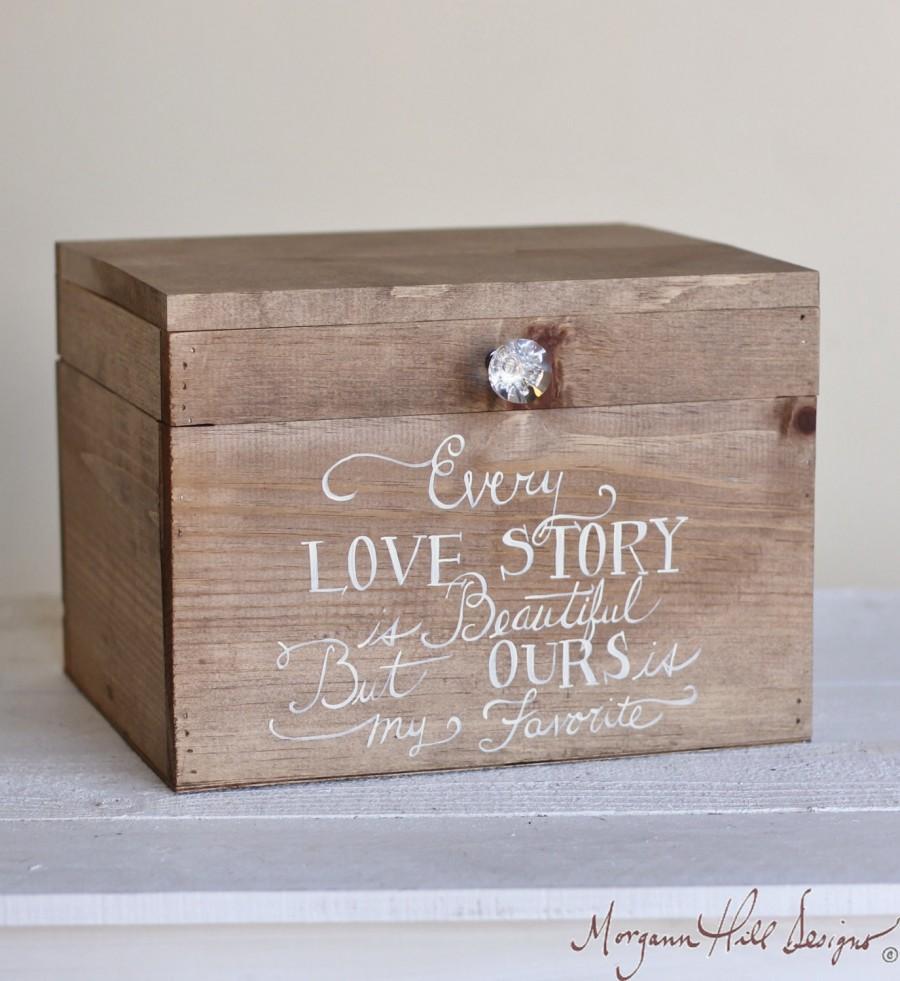 Свадьба - Wedding Card Box Rustic County Barn Love Story Keepsake Box (Item Number MHD20092)
