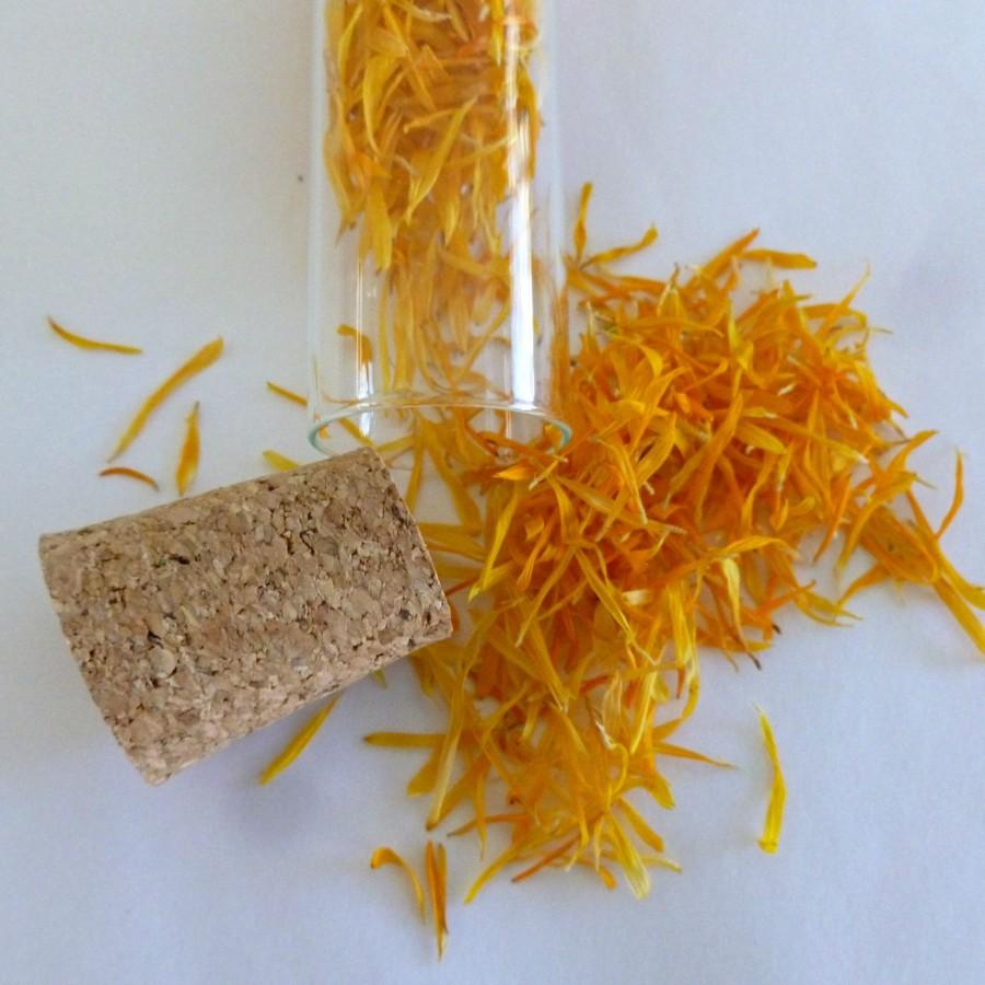 Wedding - Calendula, Flower Petal, Dried Flowers, Poor Mans Saffron, Yellow, Orange, Fall, Autumn, Dry Flowers, Decoration, Edible Flowers, Food Decor