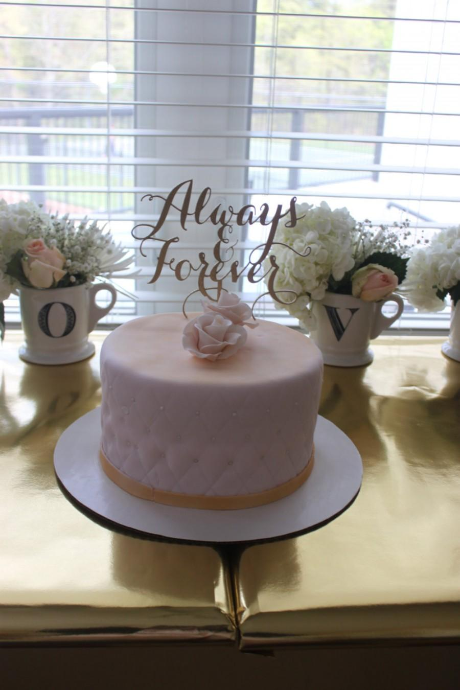 Mariage - Always and Forever! Cake Topper for Engagement Parties, Bridal Showers, and Weddings