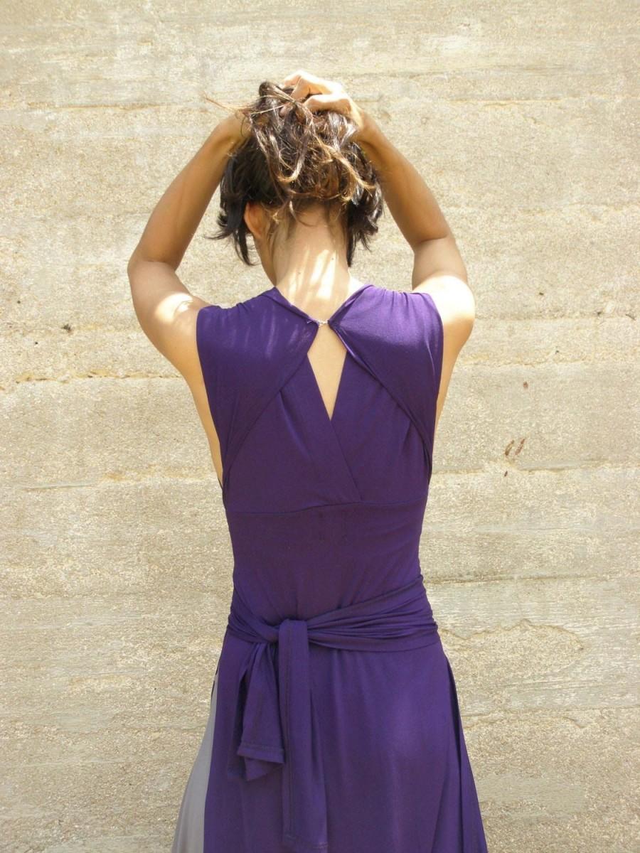 Convertible Bridesmaids Dress Wrap Dress Purple Maxi Dress Casual And Evening Womens Dress Prom Dress Turnaround Slit Dress Maxi Dress 2432695 Weddbook