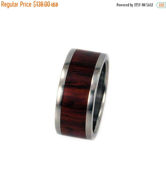 Mariage - Holiday Sale 15% Off Snakewood Wood Ring, Titanium Wood Ring, Ring Armor Included
