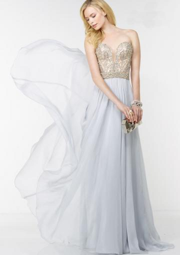 Mariage - Buy Australia 2016 White A-line Sweetheart Neckline Beaded Chiffon Floor Length Evening Dress/ Prom Dresses 6595 at AU$173.91 - Dress4Australia.com.au