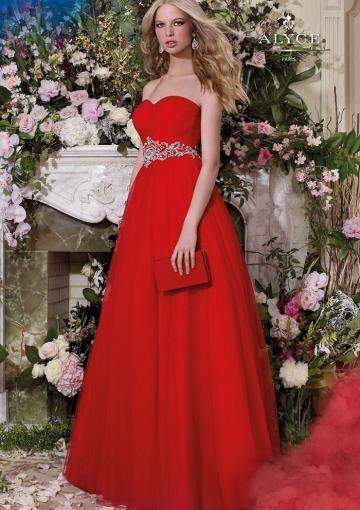 Boda - Buy Australia 2016 Ruby A-line Sweetheart Neckline Ruched Beaded Organza Floor Length Evening Dress/ Prom Dresses 6605 at AU$172.79 - Dress4Australia.com.au