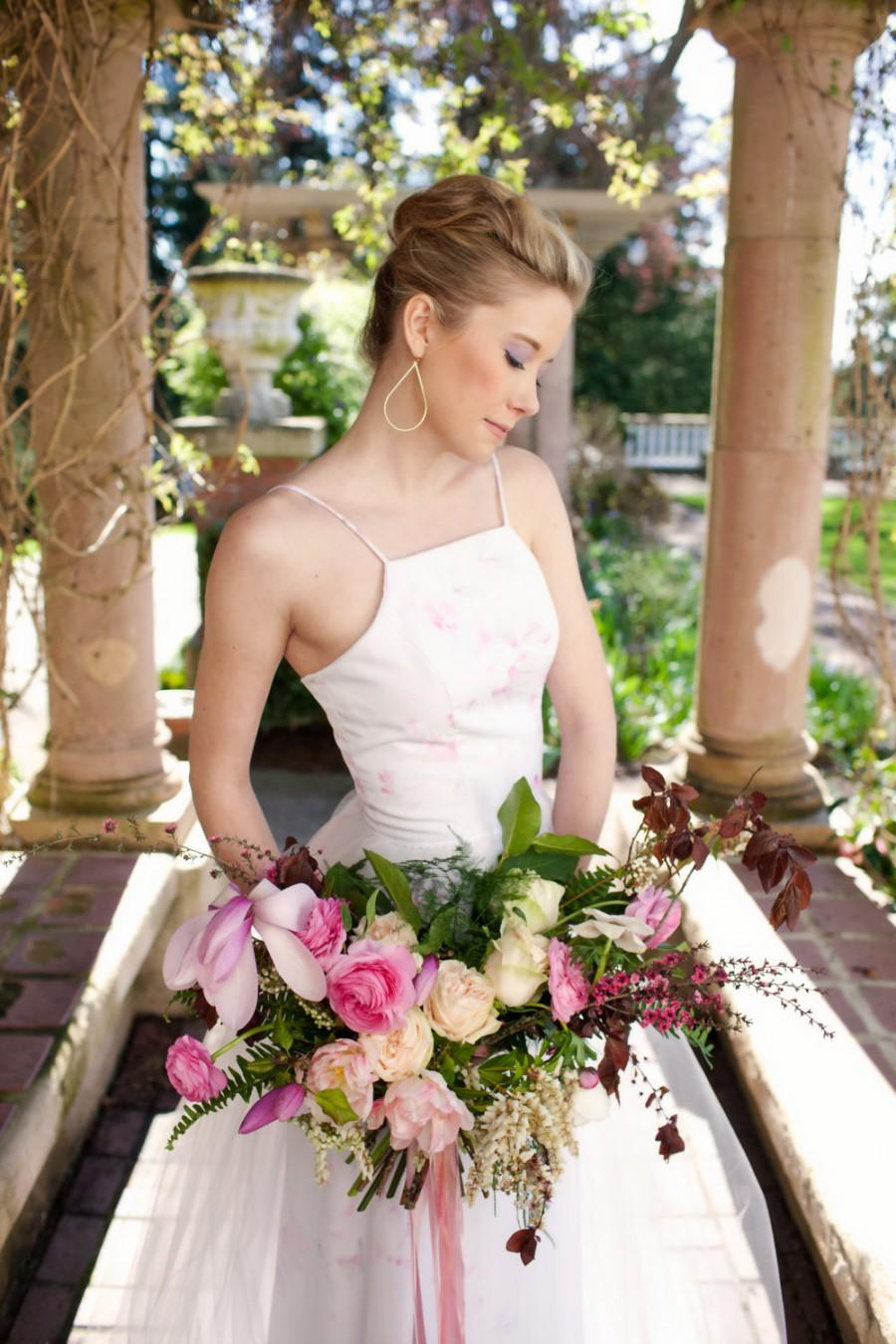 Floral Wedding Dress Pink Halter Blush Tickled Pink Tulle Long