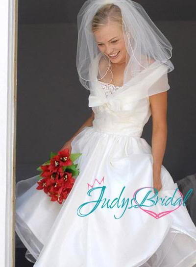 Wedding - JWD059 short vintage best selling white bridal gowns