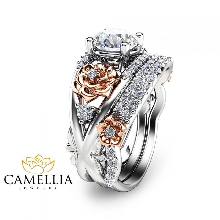 bridal brilliant rings tumblr unique gold camellia moissanite forever rose post set carat engagement jewelry ring