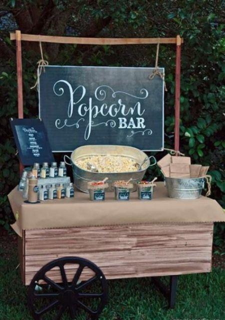 Exciting Wedding Bar Ideas With Popcorn