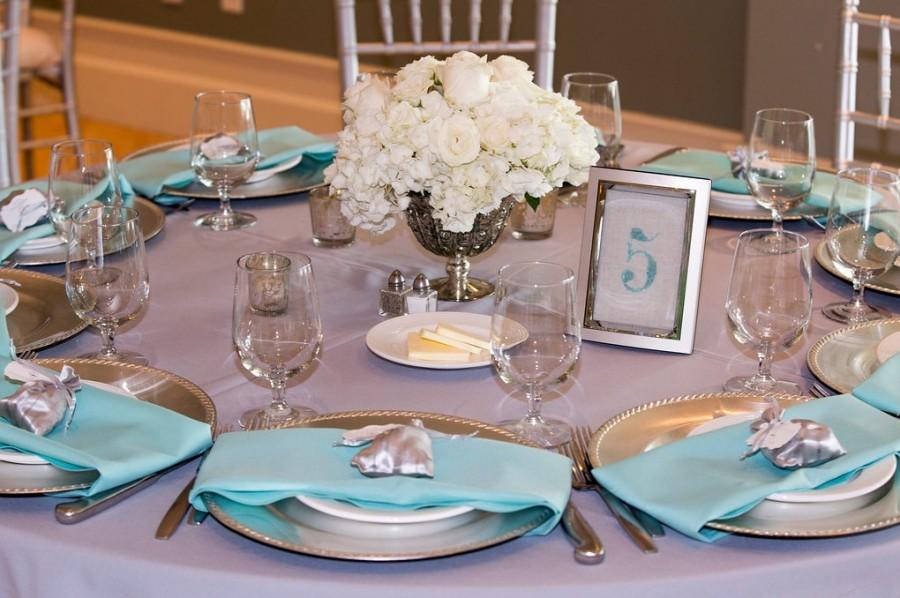 Wedding Table Numbers - Beach Wedding Decor - Teal Or Blue Wedding ...