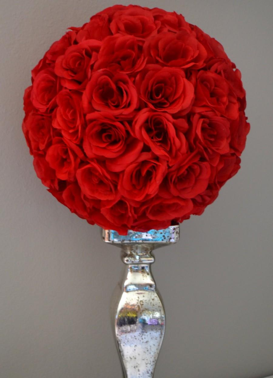 Premium Soft Silk RED Flower Ball, WEDDING CENTERPIECE, Wedding ...