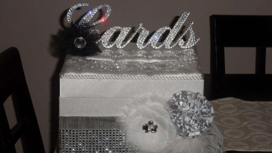 "Свадьба - Swarovski Crystal ""Cards"" sign"