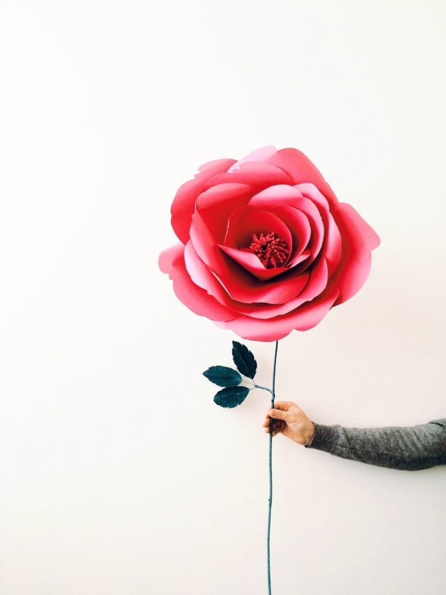 Wedding - Unique Paper Rose- Giant Paper Flower- Big Paper Rose - Single Paper flower