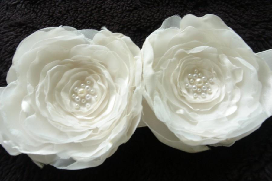 Flower Clip Bridesmaid Gift Fl Bridal Hair Accessories Brooch Off White Fascinator Headpiece Wedding