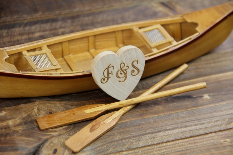 Mariage - Canoe-boat-wedding-cake topper-rustic-fishing-woodland-fisherman-row boat-bride-groom-Mr and Mrs-country-hunting-