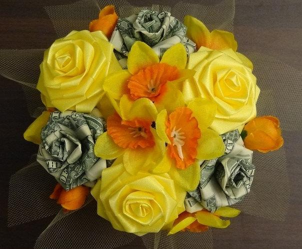 Hochzeit - Lucky Money Cutie Pot Ribbon Flower Centerpiece