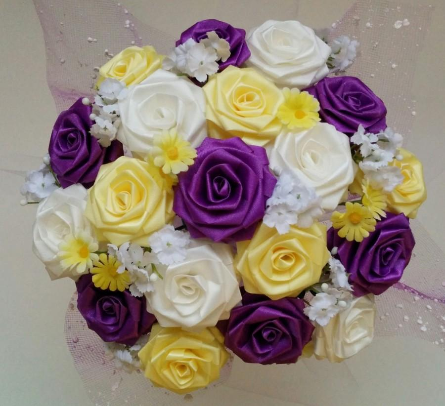 CREATE YOUR OWN Biggie Pot Ribbon Flower Centerpiece For Wedding ...