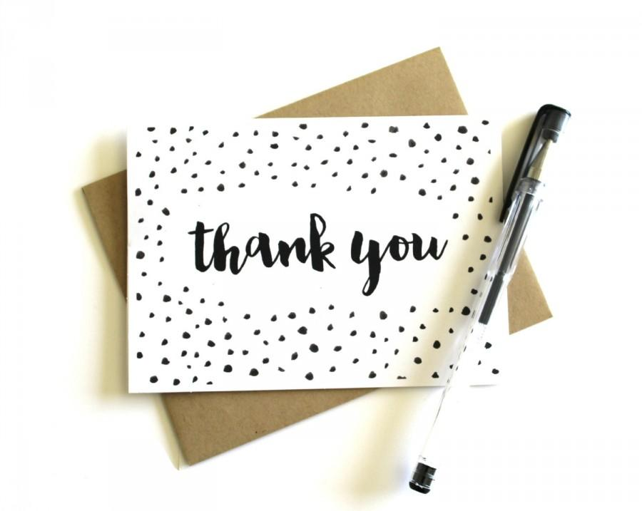 Confetti Thank You Cards (Set Of 5) - Thank You Cards, Wedding