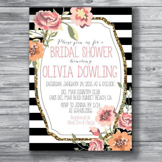 Bridal Shower Invitation, Wedding Shower Invite, Rustic ...