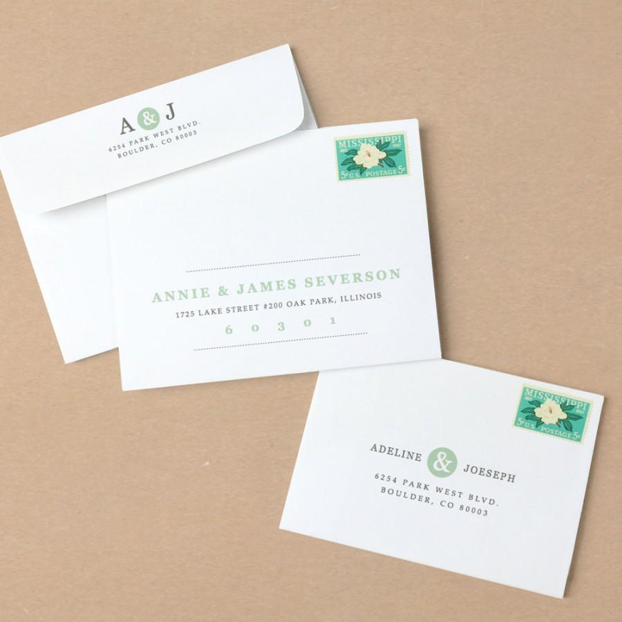 WeddingPrintable Wedding Envelope Template