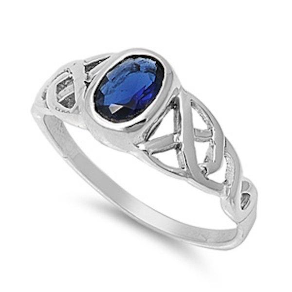 Gemstone Rings Celtic