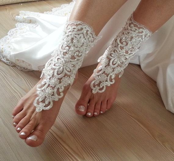 Hochzeit - free shipping. anklet, Beach wedding barefoot sandals, Steampunk, Beach Pool, Sexy, Yoga, Anklet , Bellydance, wedding party, wedding show