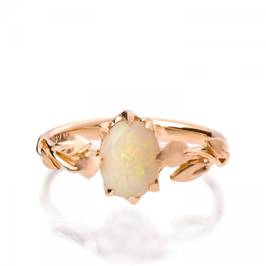 Opal Engagement Ring Opal Ring Opal 18K Rose Gold Ring Opal