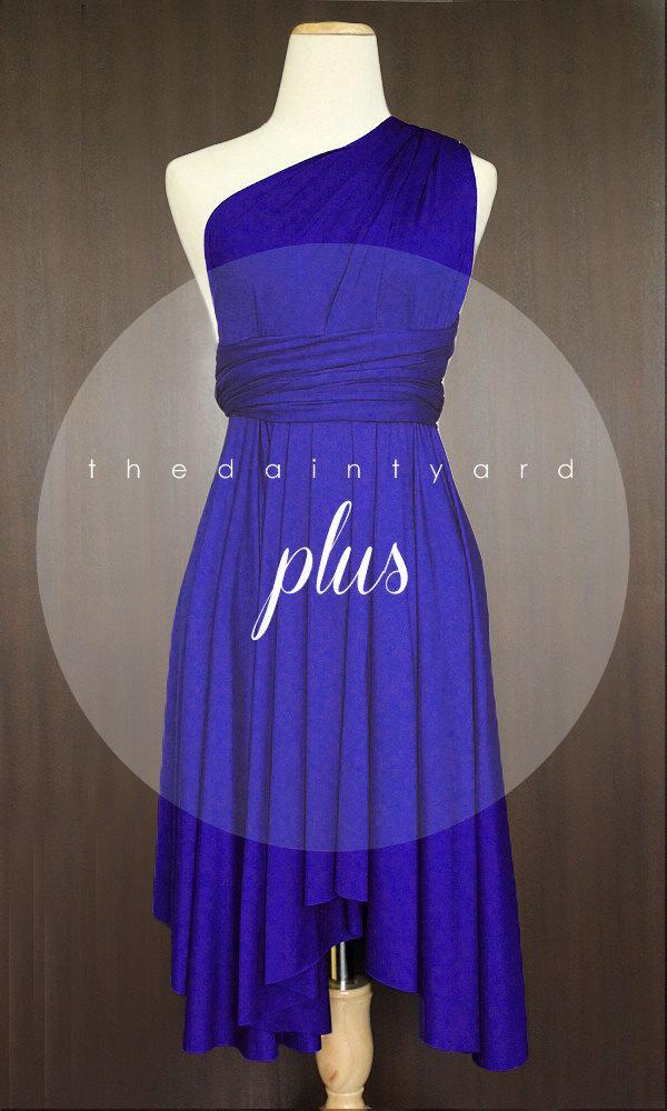 Plus Size Royal Blue Bridesmaid Dress Convertible Dress Infinity