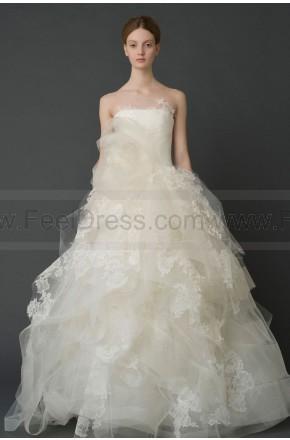 Mariage - Grecian Sleeveless Tulle Strapless Princess Zipper Floor-length Wedding Dresses