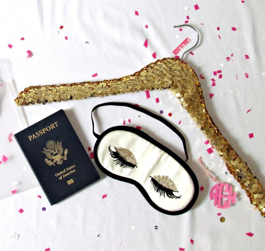 Wedding - THE ORIGINAL sequin hanger. Choose Gold or Silver sequins, Adult or Child sized.